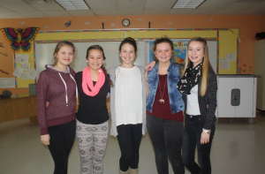 Carolane Ouellette (far right grade 8)