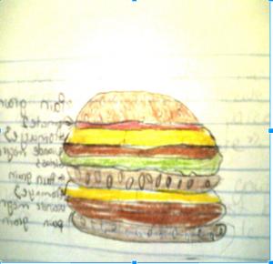 Mon cheeseburger