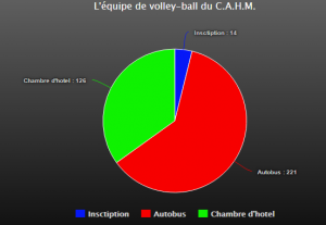 L'équipe de volley-ball du C.A.H.M.